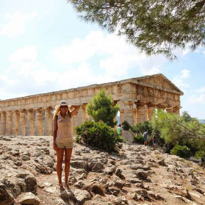 Visit the Temple of Segesta Greek temple in Sicily
