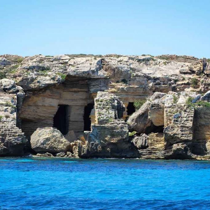 Caves of favignana Island