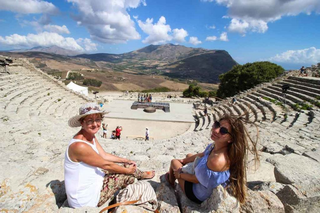 The greek Amphitheatre of Segesta in Sicily