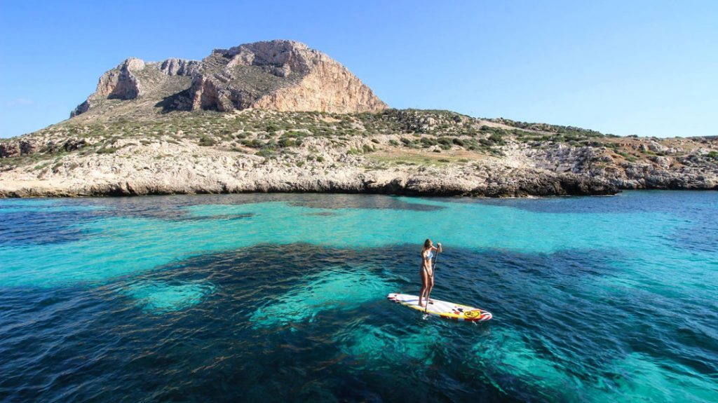 Sup trip around the egadi islands