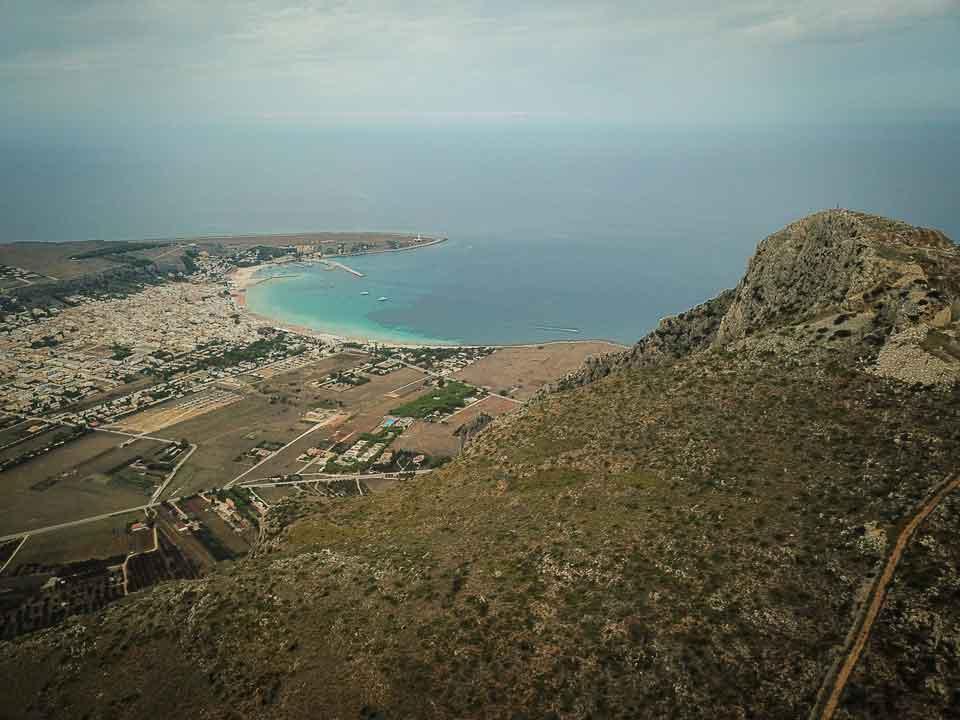 Drone shot of Monte Monaco