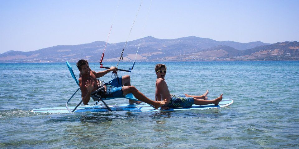 Kitesurfing in Greece Paros kitesurf center Pounta kitesurfing