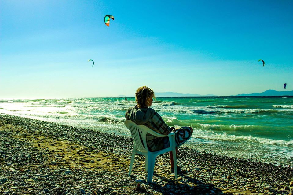 kitesurfing in greece