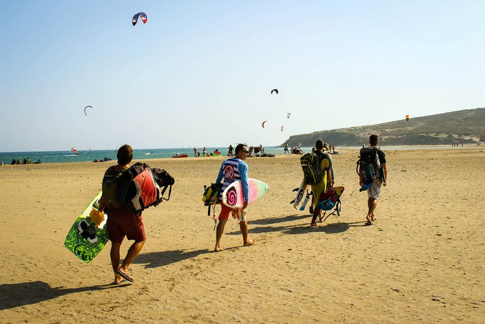 Prasonisi kitebeach Rhodes kitesurfin in Greece